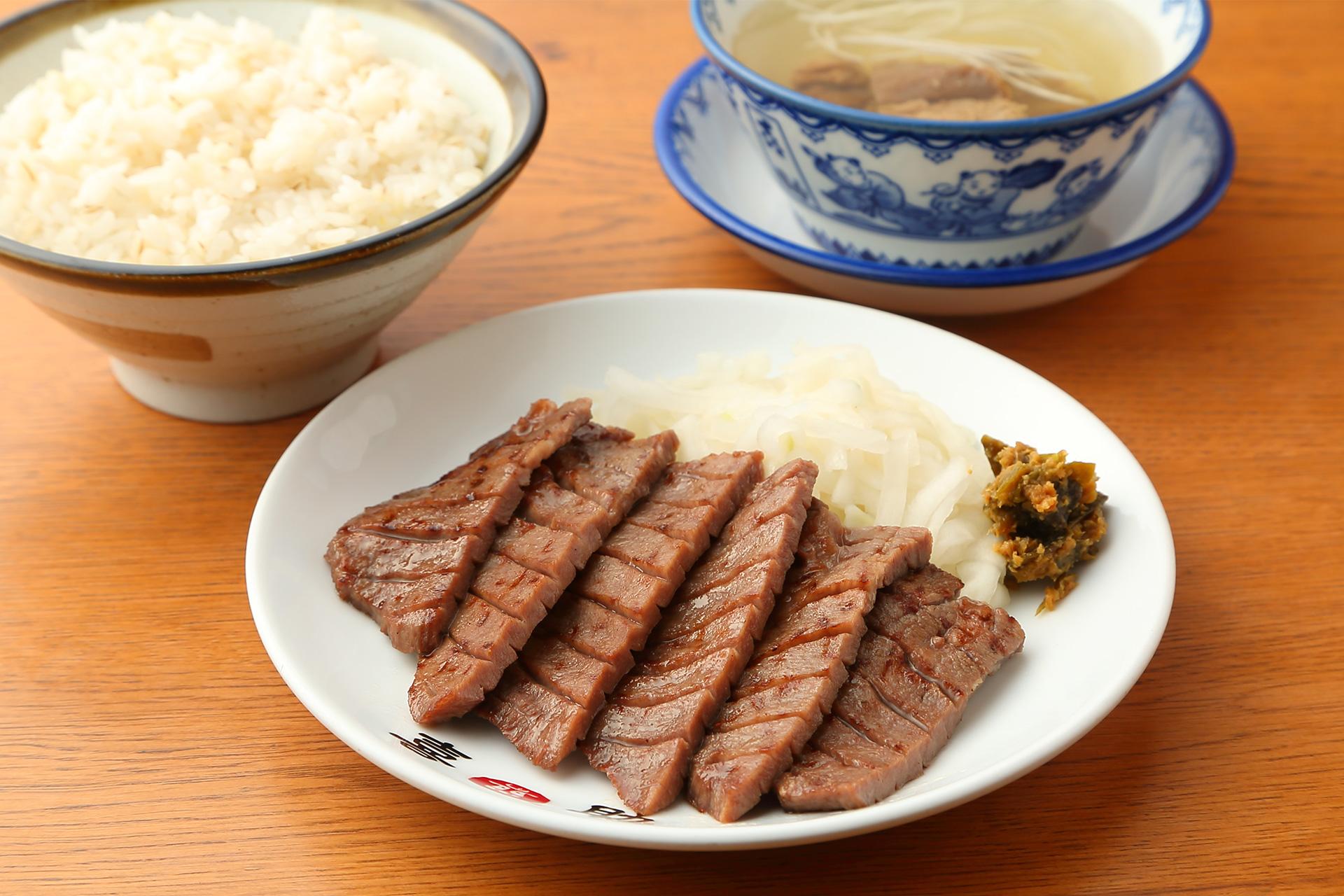 牛たん喜助の牛たん炭火焼き定食